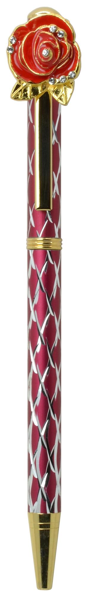 スワロフスキークリスタルボールペン ビッグローズ(ローズ4) レッド <br>No.65566