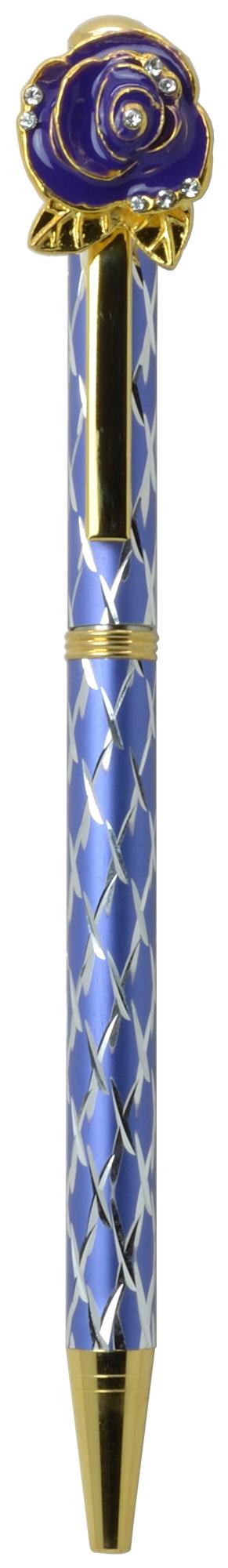 スワロフスキークリスタルボールペン ビッグローズ(ローズ4) パープル <br>No.65569