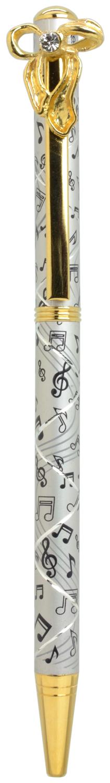 スワロフスキークリスタルボールペン リボン2 シルバー <br>No.65585