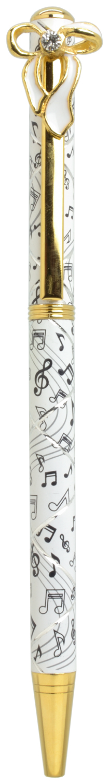 スワロフスキークリスタルボールペン リボン2 ホワイト <br>No.65586