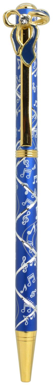 スワロフスキークリスタルボールペン リボン2 ブルー <br>No.65591