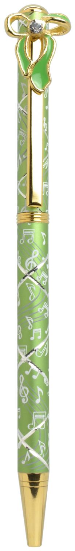 スワロフスキークリスタルボールペン リボン2 グリーン <br>No.65592