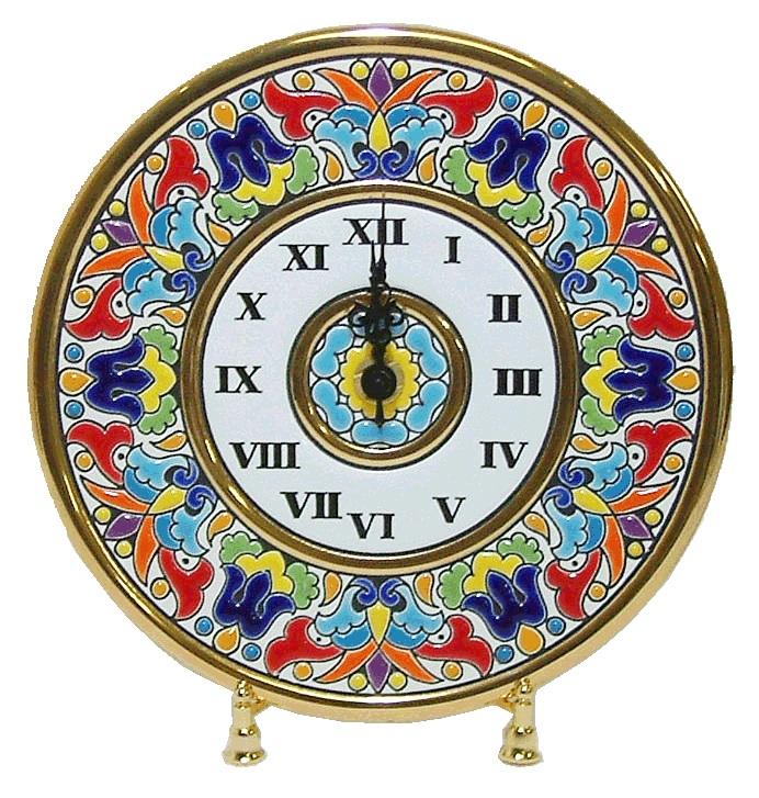 セビリア皿時計(イーゼル付き) <br>No.69065