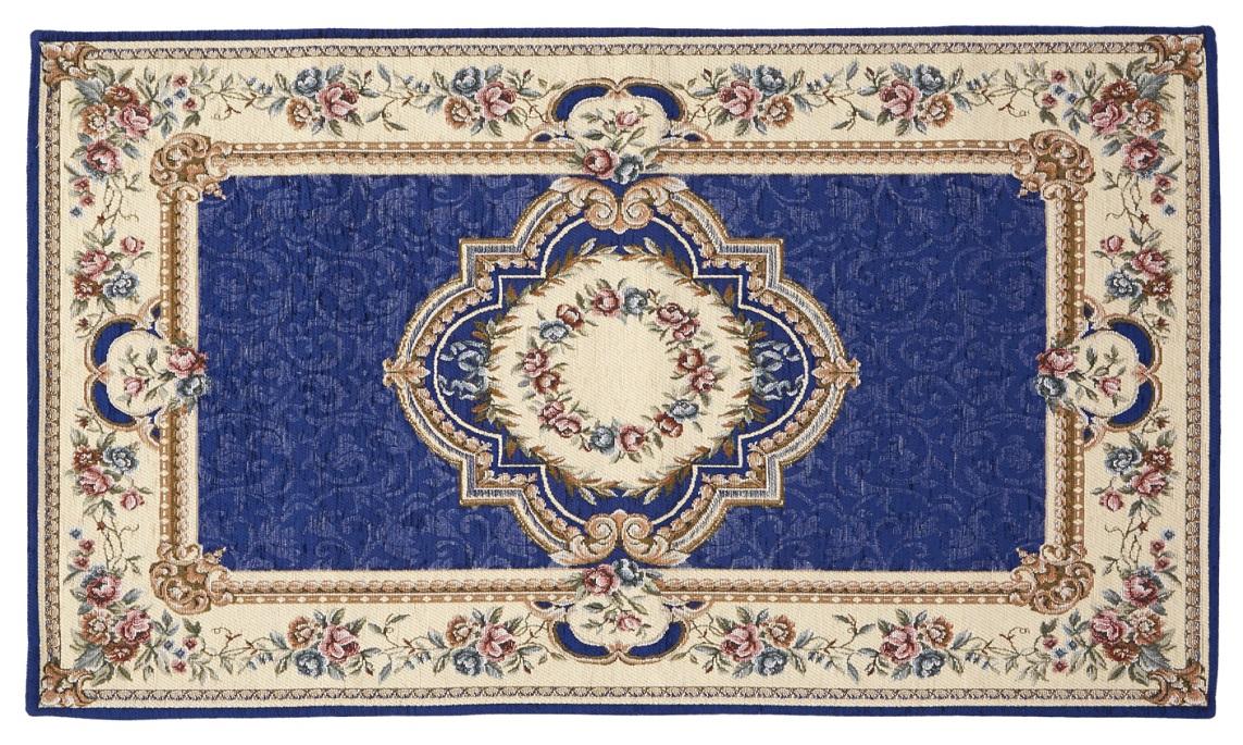 ゴブラン織りマット ブルー <br>No.83031