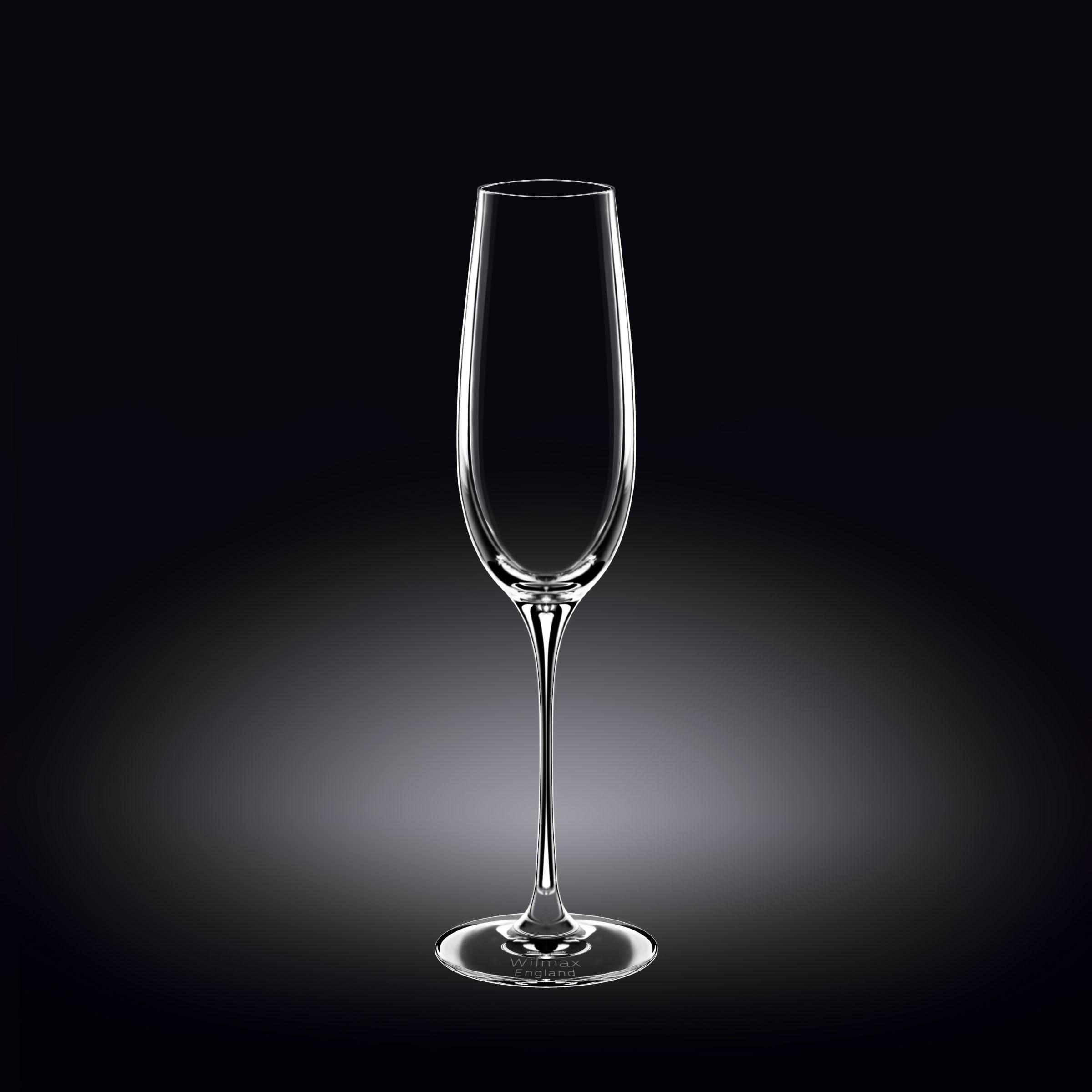 【Wilmax England】 ~Julia Collection~シャンパンフルートグラス2Pセット <br>No.32064