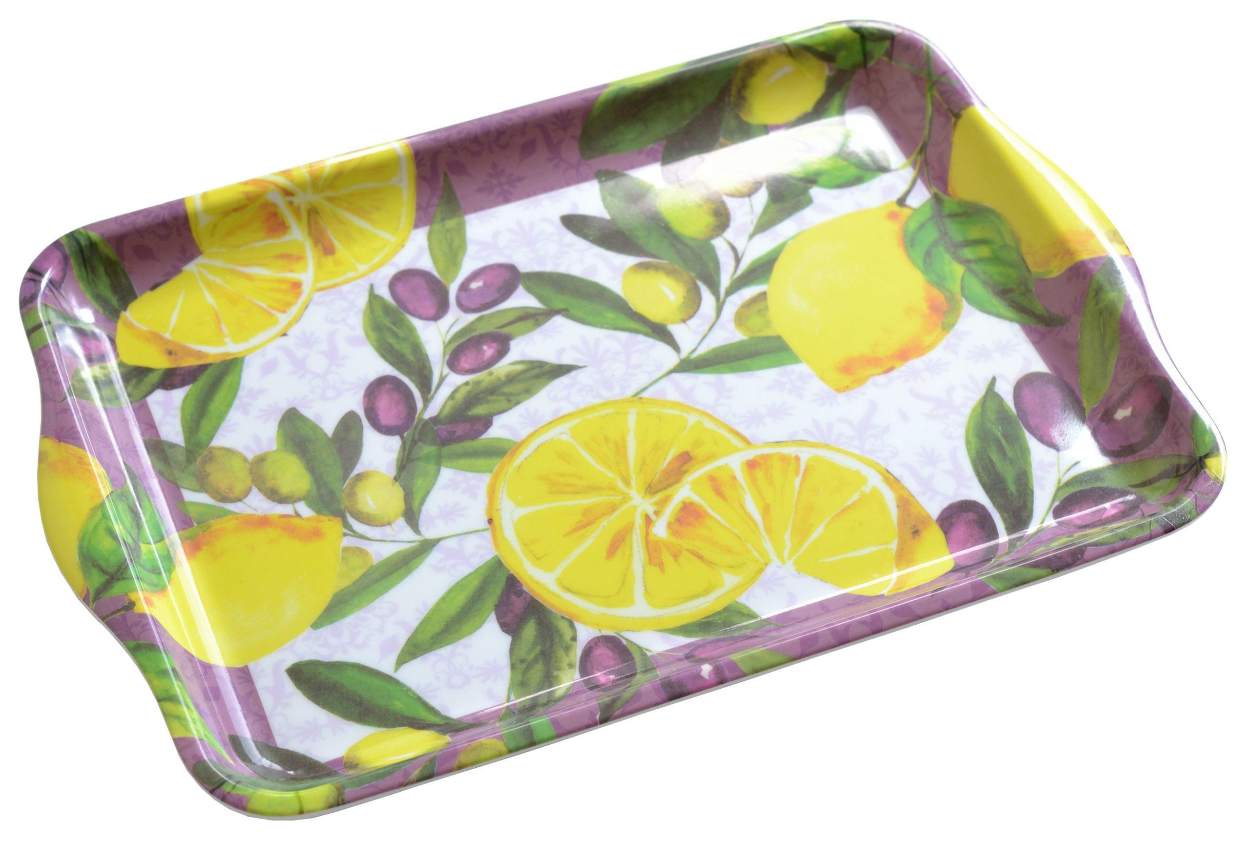 メラミンキッチン トレーS レモン <br>No.57531