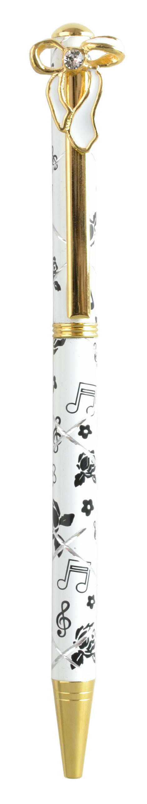 スワロフスキークリスタルボールペン リボン1 ホワイト <br>No.65415