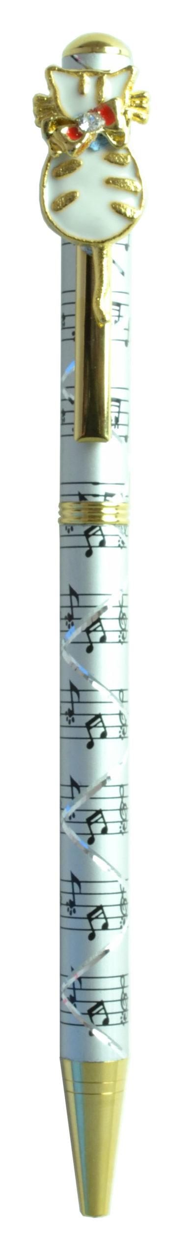 スワロフスキークリスタルボールペン ネコ6 シルバー <br>No.65438