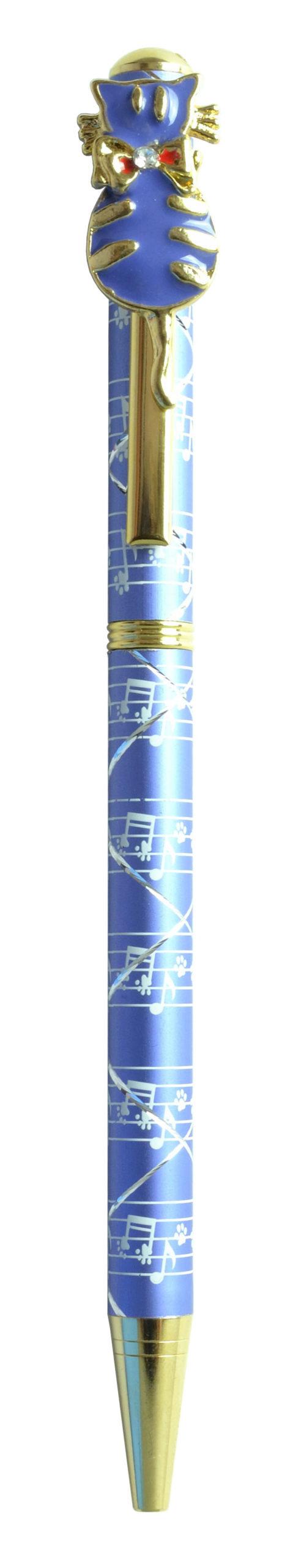 スワロフスキークリスタルボールペン ネコ6 パープル <br>No.65442
