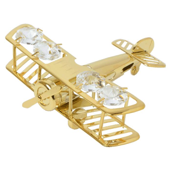 スワロフスキークリスタルオーナメント 飛行機  <br>No.01667