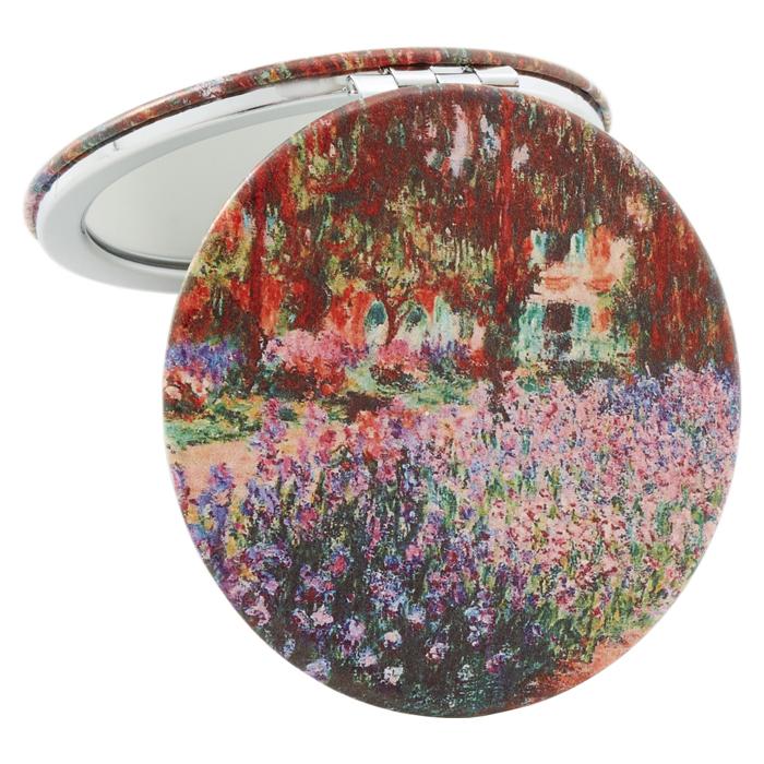 コンパクトミラー 名画シリーズ モネ『ジヴェルニーのモネの庭』 ラウンド <br>No.73637