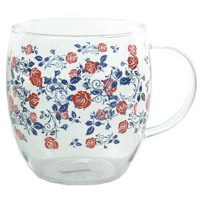 耐熱ガラスマグカップ リトルローズ <br>No.56208