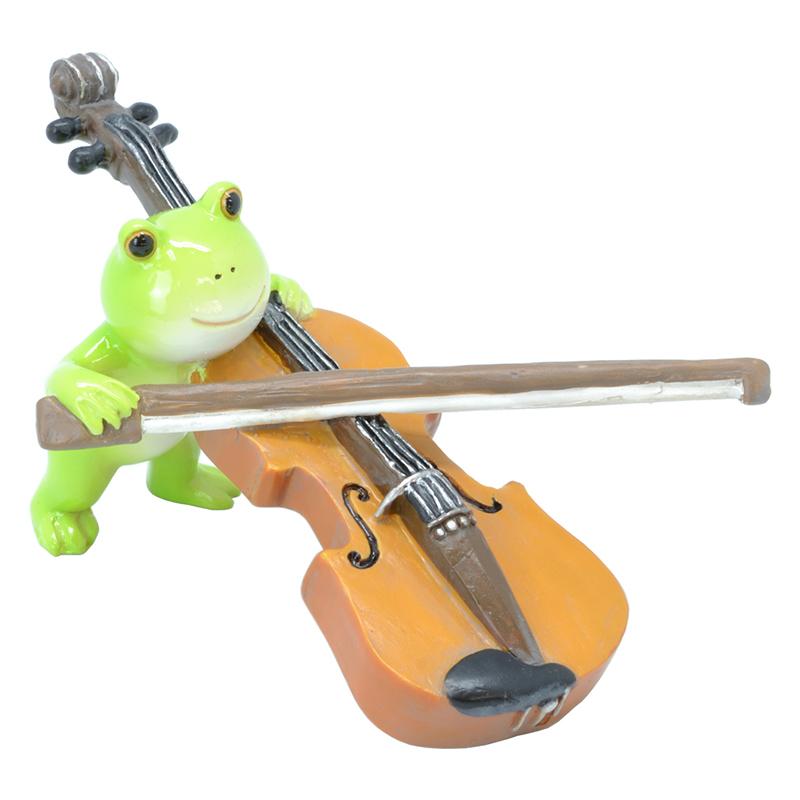 カエル楽団 オーナメント バイオリン <br>No.64404