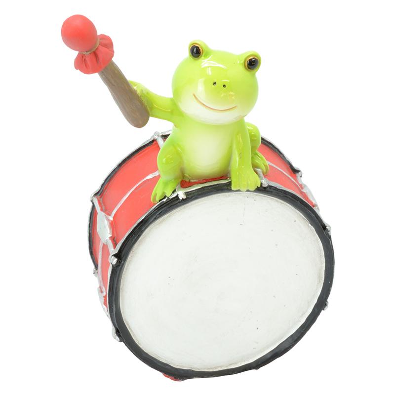 カエル楽団 オーナメント ドラム <br>No.64408